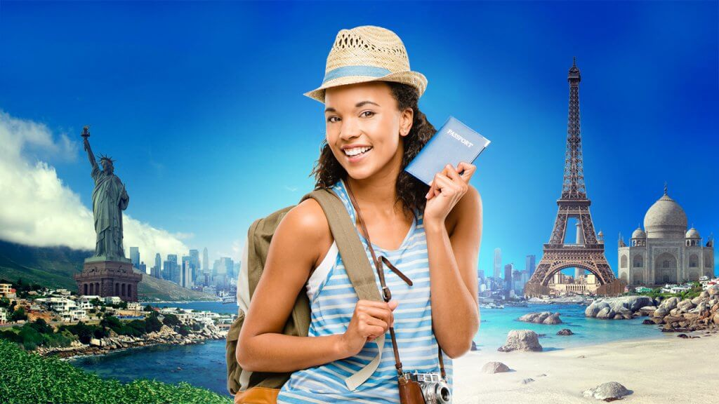 Student Traveling with a Passport