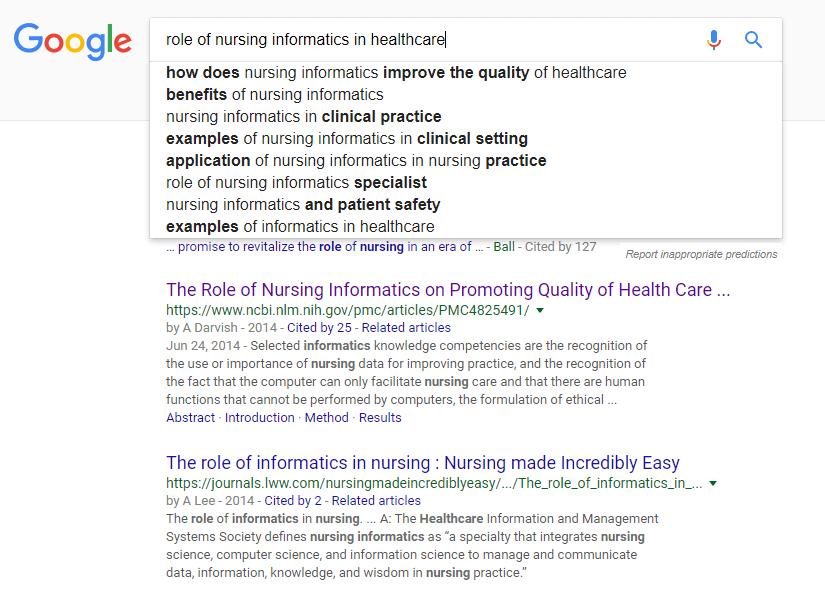 Keyword Google Search
