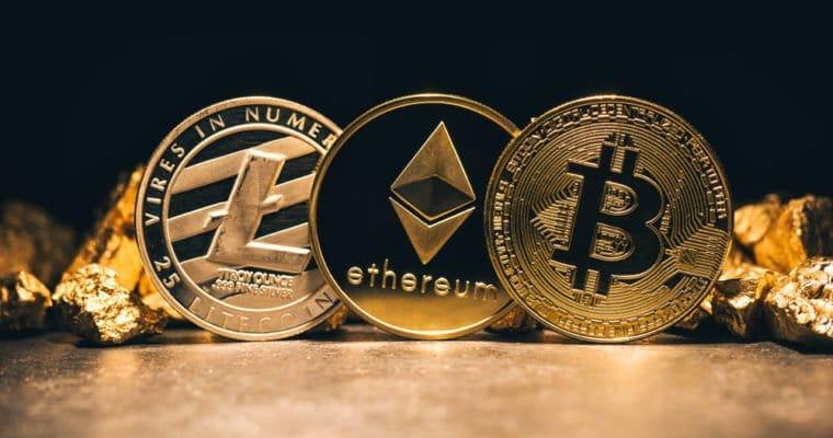 Bitcoin, Ethereum, and Litecoin