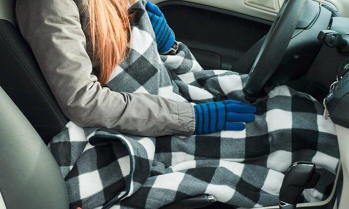 Blankets in car