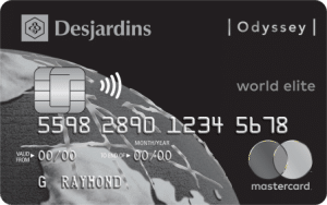 Odyssey World Elite Mastercard from Desjardins