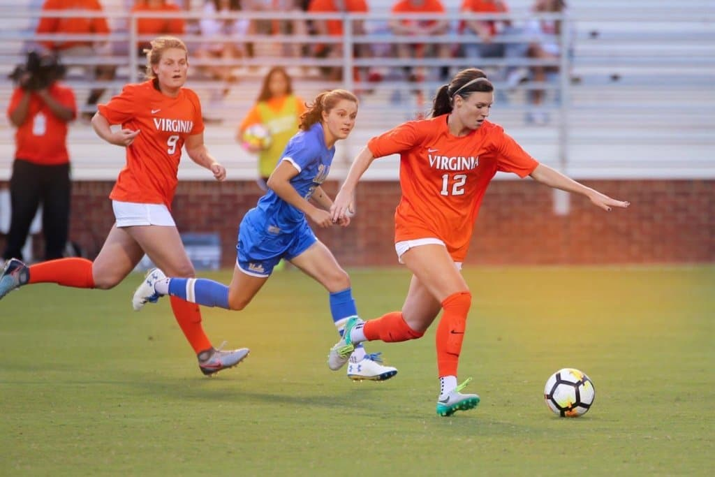 The University of Virginia Cavaliers Women's soccer team