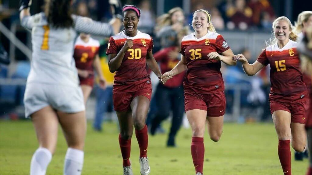 The USC Trojans women's soccer team