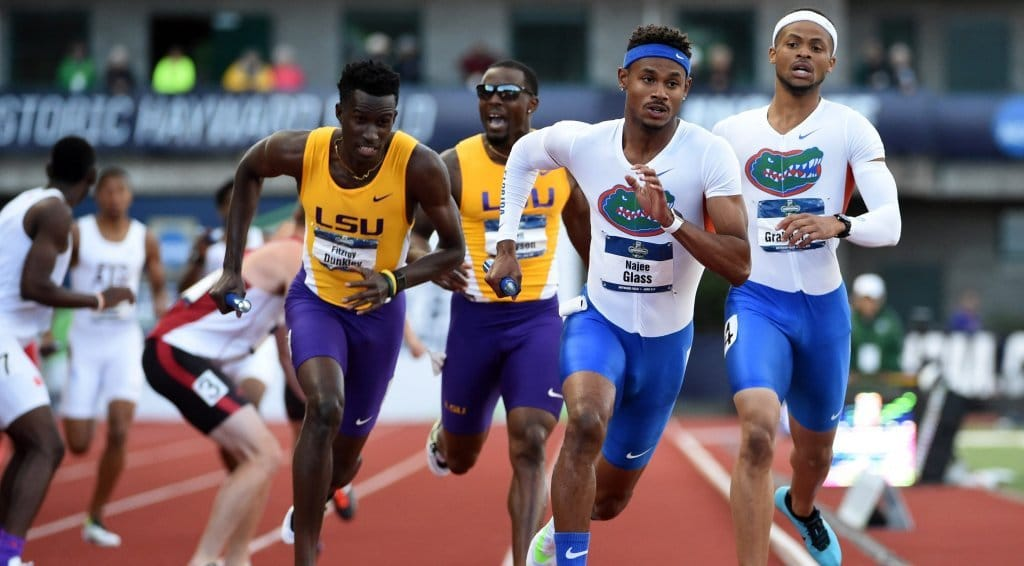 The Florida Gators track