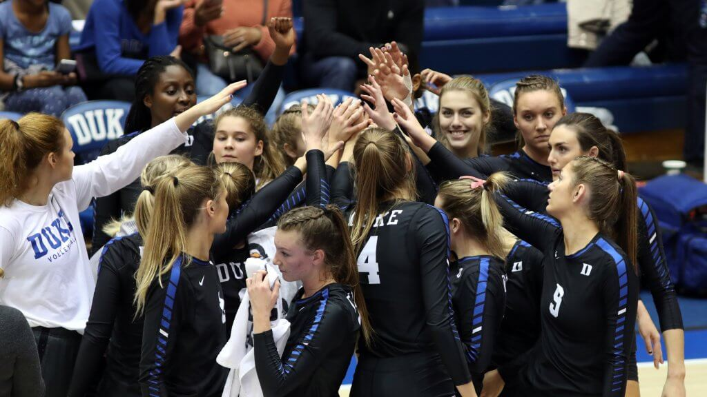 The Duke Blue Women's volleyball team