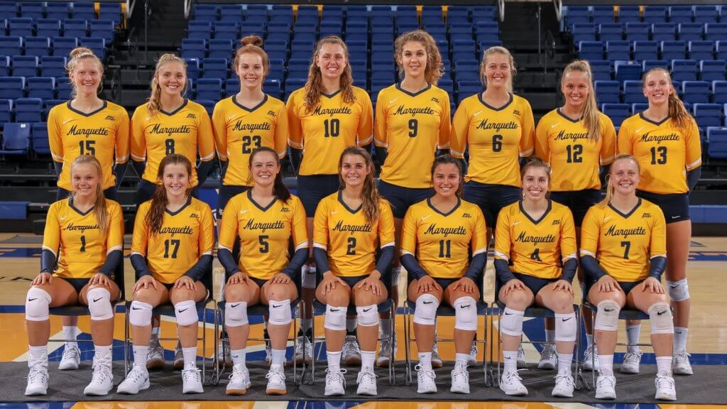 The Marquette Golden Eagles women's Volleyball team