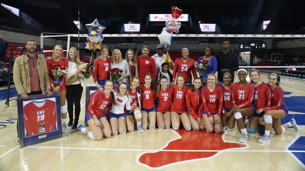 The SMU Mustangs women's volleyball team 2019