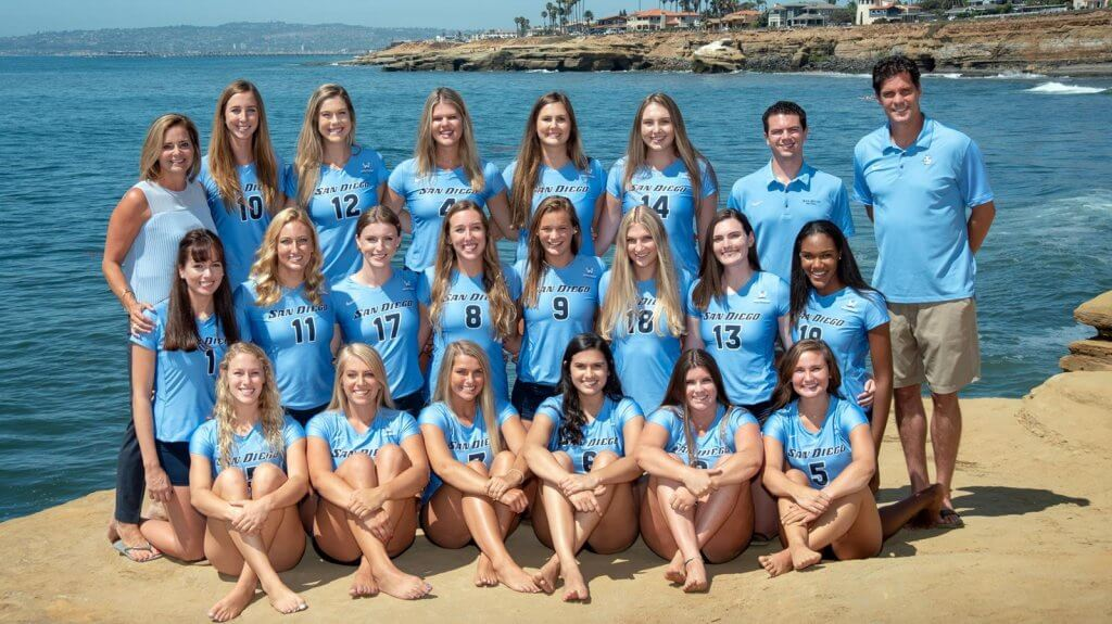 The San Diego Toreros women's volleyball team